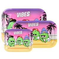 VIBES Metal Rolling Tray | Best Buds | Wholesale
