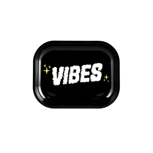VIBES Metal Rolling Tray | Clouds of Smoke Logo | Small | Wholesale
