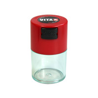 VitaVac Clear Airtight Storage Container | Red | Wholesale