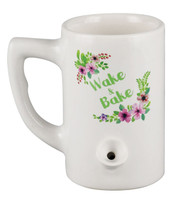 Wake and Bake Mug Pipe - 10.5oz / Floral