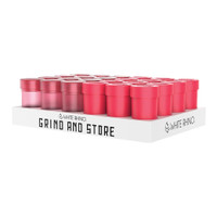 White Rhino 2-in-1 Grind and Store | Red | 24pc Display