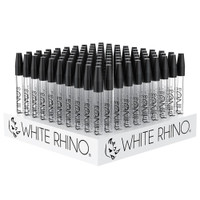"White Rhino Dab Straw w/ Silicone Cap - 5"" / 100 pc Display"
