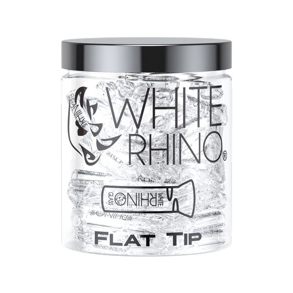 White Rhino Glass Tips | Flat Tip | Wholesale Distributor