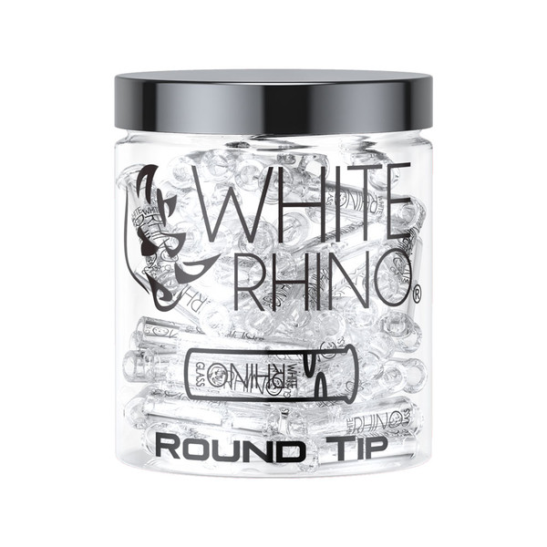 White Rhino Glass Tips | Round Tip | Wholesale Distributor