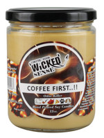 Wicked Sense Soy Candle - 13oz / Coffee First..!! - AFG Distribution
