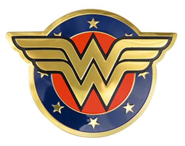 Wonder Woman Shield Metal Sticker 115x15