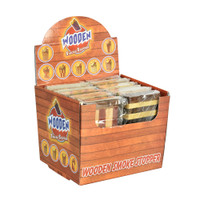 "Wooden Dugout w/ Taster 4"" Assorted Styles 12pc Display 