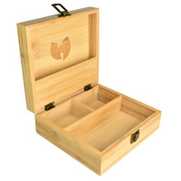 Wu Tang 3 Compartment Bamboo Stash Box | Wholesale Distributor
