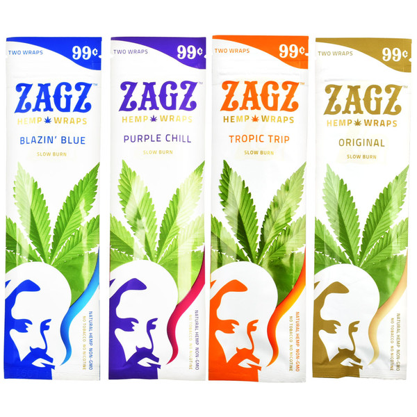 Zagz Natural Hemp Wraps | Wholesale Distribution