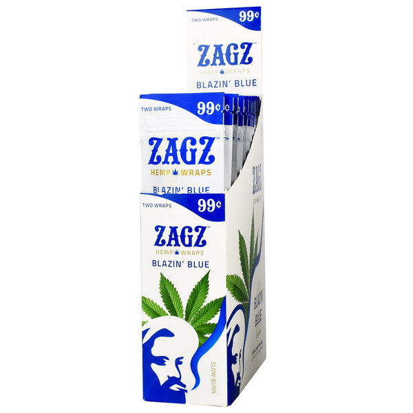 Zagz Natural Hemp Wraps | Blazin' Blue | Wholesale Distribution