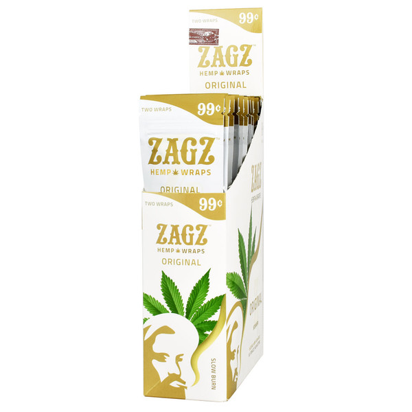 Zagz Natural Hemp Wraps | Original | Wholesale Distribution