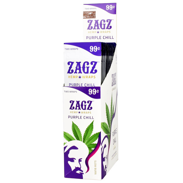 Zagz Natural Hemp Wraps | Purple Chill | Wholesale Distribution