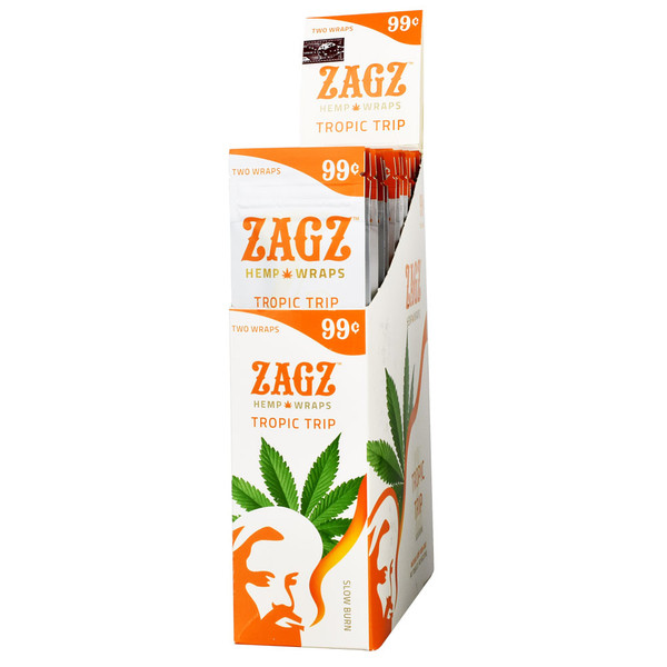 Zagz Natural Hemp Wraps | Tropic Trip | Wholesale Distribution