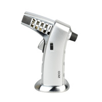 Zico MT41 Vented Barrel Table Torch Lighter | Silver | Wholesale