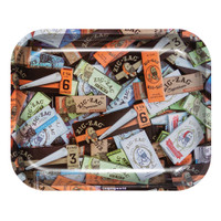 Zig Zag Large Metal Rolling Tray | Paper Mix | Wholesale Distributor