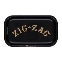 Zig Zag Small Metal Rolling Tray | Black | Wholesale Distributor
