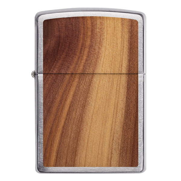 Zippo Lighter | Brushed Chrome | Cedar | Wholesale Distributor