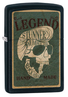 Zippo Lighter - Legendary Skull - Black Matte