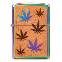 Zippo Lighter | Mahogany Hemp Leaf | Wholesale Distributor