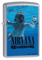 Zippo Lighter - Nirvana Nevermind - Street Chrome