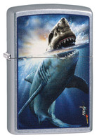 Zippo Lighter - Shark by Mazzi - Street Chrome